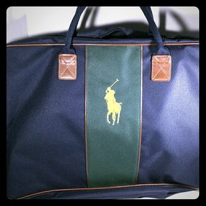 Polo Ralph Lauren Pony Travel Navy Blue and Green